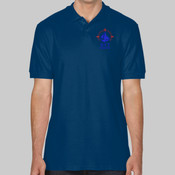 GD017 Softstyle adult double piqué polo